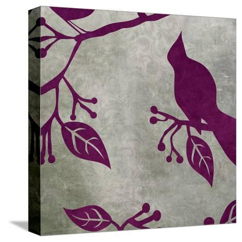 Birds & Leaves 2-Kristin Emery-Stretched Canvas Print