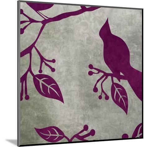 Birds & Leaves 2-Kristin Emery-Mounted Art Print