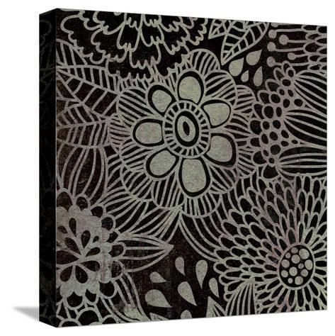 Stencil Floral-Kristin Emery-Stretched Canvas Print