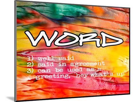 Word-Taylor Greene-Mounted Art Print