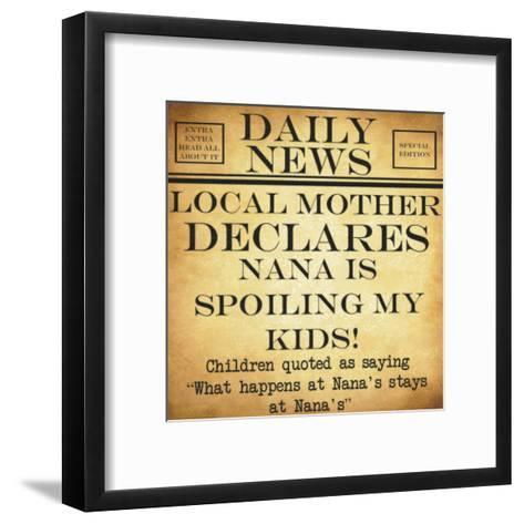 Daily News - Nana-Taylor Greene-Framed Art Print