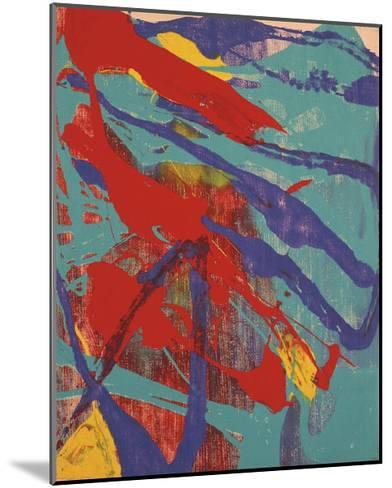 Abstract Painting, c. 1982 (Aqua, Red, Indigo, Yellow)-Andy Warhol-Mounted Art Print