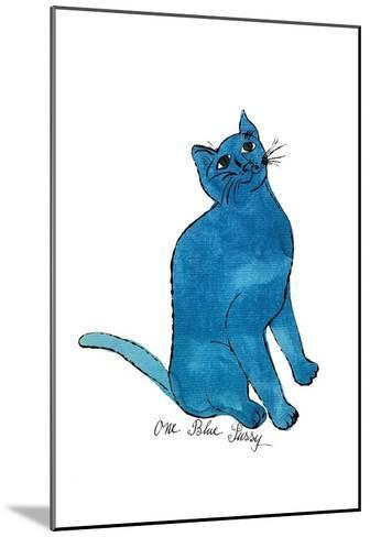 """Cat From """"25 Cats Named Sam and One Blue Pussy"""", c. 1954 (One Blue Pussy)-Andy Warhol-Mounted Art Print"""