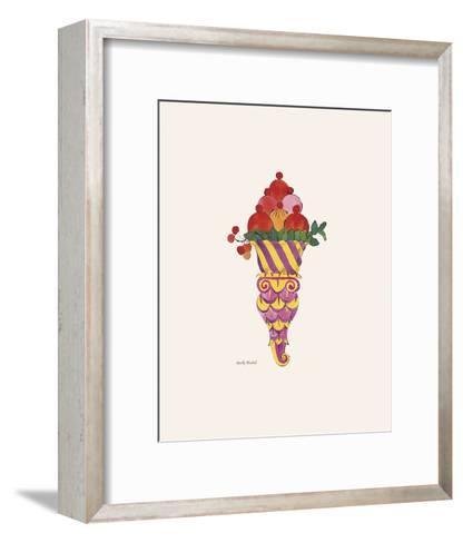 Ice Cream Dessert, c. 1959 (purple fancy)-Andy Warhol-Framed Art Print