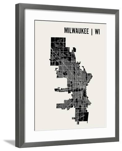 Milwaukee-Mr City Printing-Framed Art Print