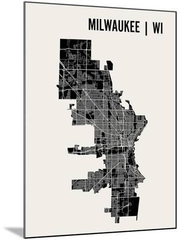 Milwaukee-Mr City Printing-Mounted Art Print