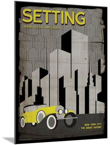 Setting (Great Gatsby) - Element of a Novel-Christopher Rice-Mounted Art Print
