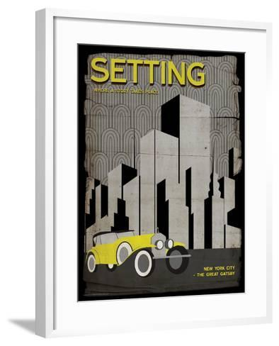 Setting (Great Gatsby) - Element of a Novel-Christopher Rice-Framed Art Print