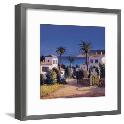 Mediterranean Morning Shadows II-David Short-Framed Art Print