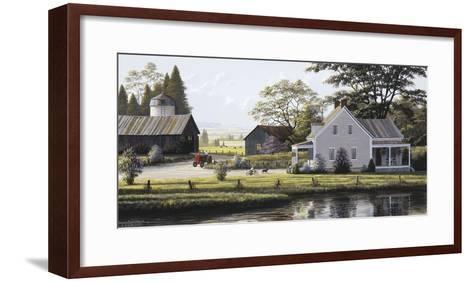 The Red Tractor-Bill Saunders-Framed Art Print