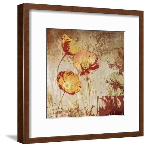 Poppy Heat II-Tandi Venter-Framed Art Print