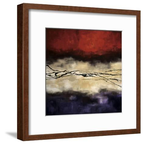 Harmony in Red and Violet-Laurie Maitland-Framed Art Print