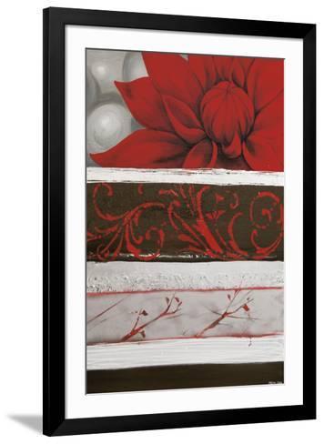 Sumptuous Red-Jasmin Zara Copley-Framed Art Print