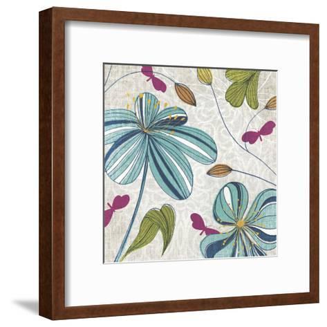 Flowers & Butterflies-Tandi Venter-Framed Art Print