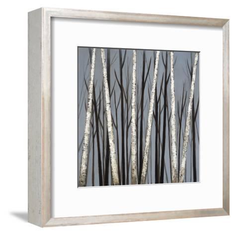 Birch Shadows--Framed Art Print