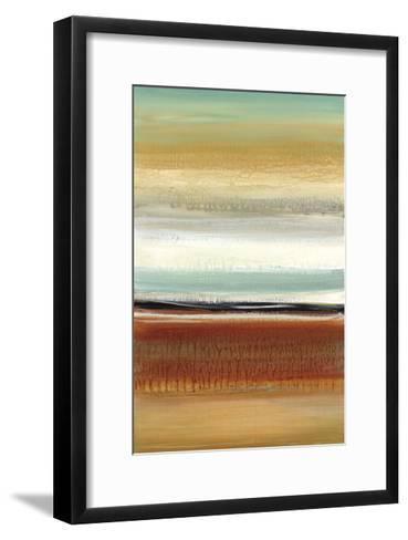 Horizon Lines II-Cat Tesla-Framed Art Print