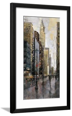 Rainy Day in Manhattan-Marti Bofarull-Framed Art Print