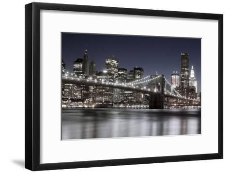 Manhattan Reflections-Jorge Llovet-Framed Art Print