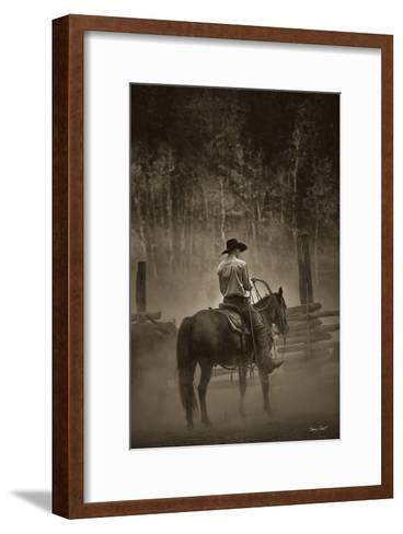 Lost Canyon Cowboy-Barry Hart-Framed Art Print
