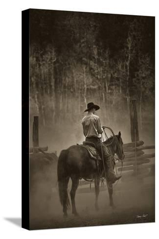 Lost Canyon Cowboy-Barry Hart-Stretched Canvas Print