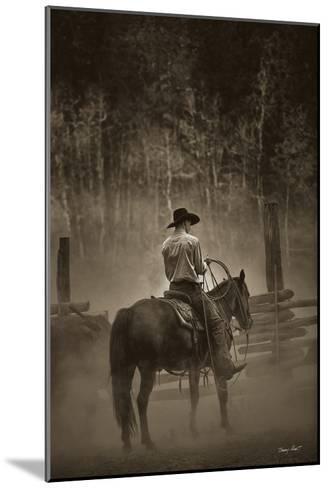 Lost Canyon Cowboy-Barry Hart-Mounted Art Print