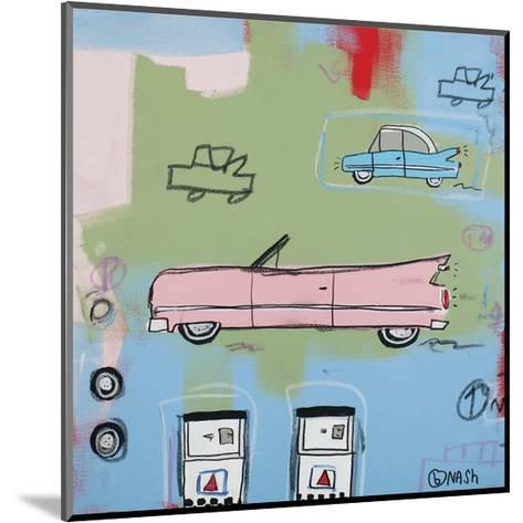 Pink Car-Brian Nash-Mounted Art Print