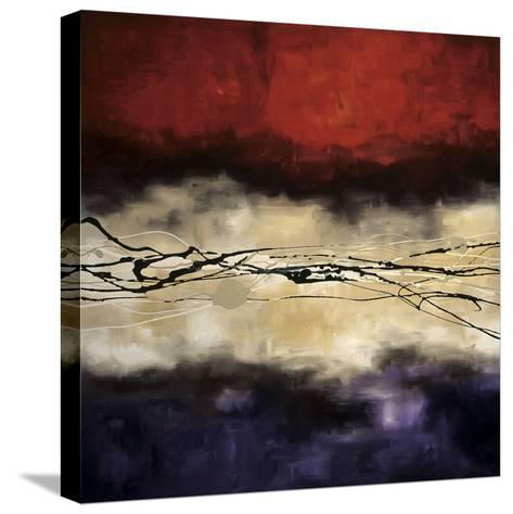 Harmony in Red and Violet-Laurie Maitland-Stretched Canvas Print