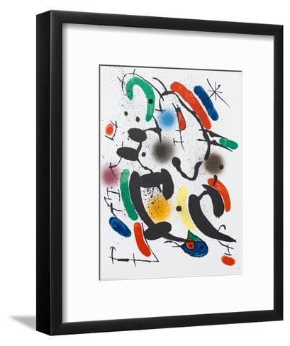 Litografia original VI-Joan Mir?-Framed Art Print