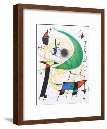 Litografia original V-Joan Mir?-Framed Art Print