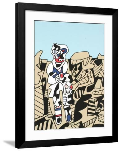 Inspection of the Territory-Jean Dubuffet-Framed Art Print