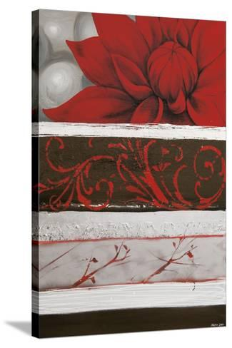 Sumptuous Red-Jasmine Zara Copley-Stretched Canvas Print