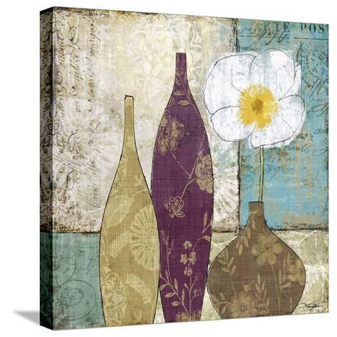 Le Pavot Blanc-Keith Mallett-Stretched Canvas Print