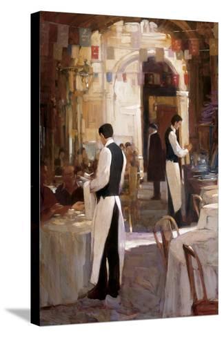 Two Waiters, Place des Vosges-Philip Craig-Stretched Canvas Print