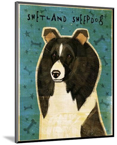 Shetland Sheepdog (Black & White)-John Golden-Mounted Giclee Print