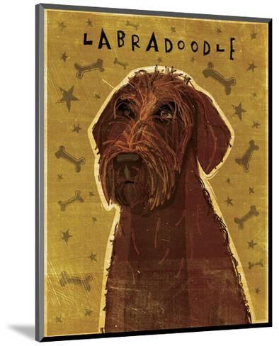 Chocolate Labradoodle-John Golden-Mounted Giclee Print