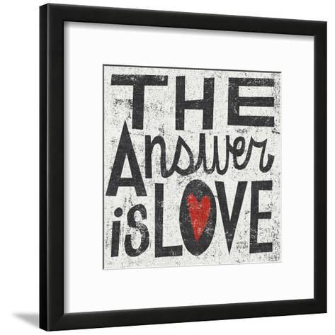 The Answer is Love Grunge Square-Michael Mullan-Framed Art Print