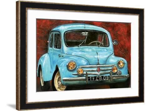 4 CV Bleue-Cobe-Framed Art Print