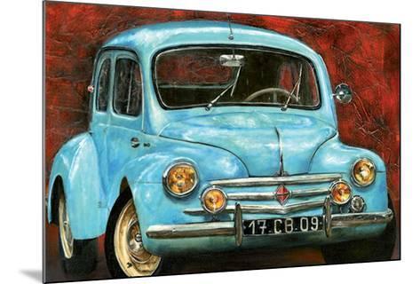 4 CV Bleue-Cobe-Mounted Art Print