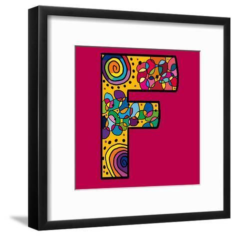 Letter F-Emi Takahashi-Framed Art Print