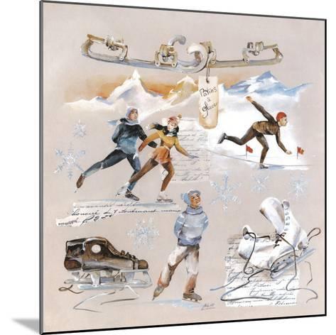 Les Patineurs-Lizie-Mounted Art Print