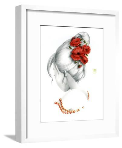 Poppy-Misstigri-Framed Art Print