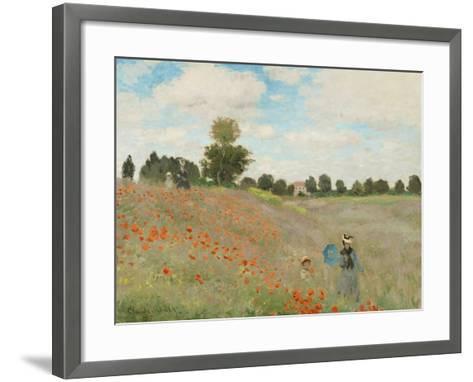 Poppy Field, Near Argenteuil, c.1873-Claude Monet-Framed Art Print
