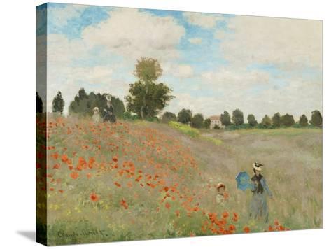 Poppy Field, Near Argenteuil, c.1873-Claude Monet-Stretched Canvas Print