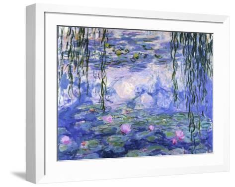 Water Lilies (Nymph?as), c.1916-Claude Monet-Framed Art Print