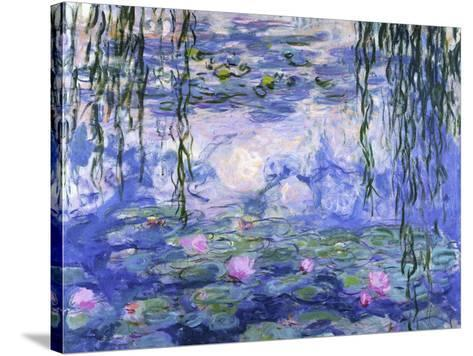 Water Lilies (Nymph?as), c.1916-Claude Monet-Stretched Canvas Print