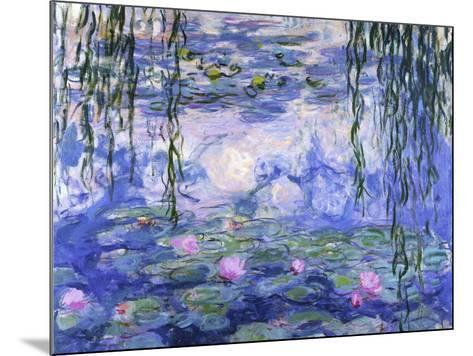 Water Lilies (Nymph?as), c.1916-Claude Monet-Mounted Art Print