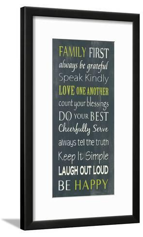 Family First-Holly Stadler-Framed Art Print