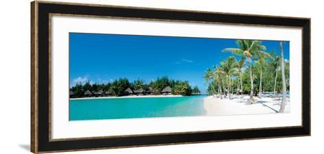 Beautiful Beach on Bora Bora Island - French Polynesia--Framed Art Print