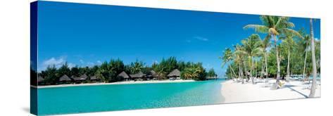 Beautiful Beach on Bora Bora Island - French Polynesia--Stretched Canvas Print