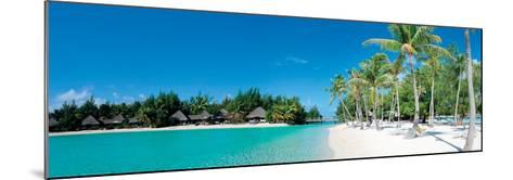 Beautiful Beach on Bora Bora Island - French Polynesia--Mounted Art Print